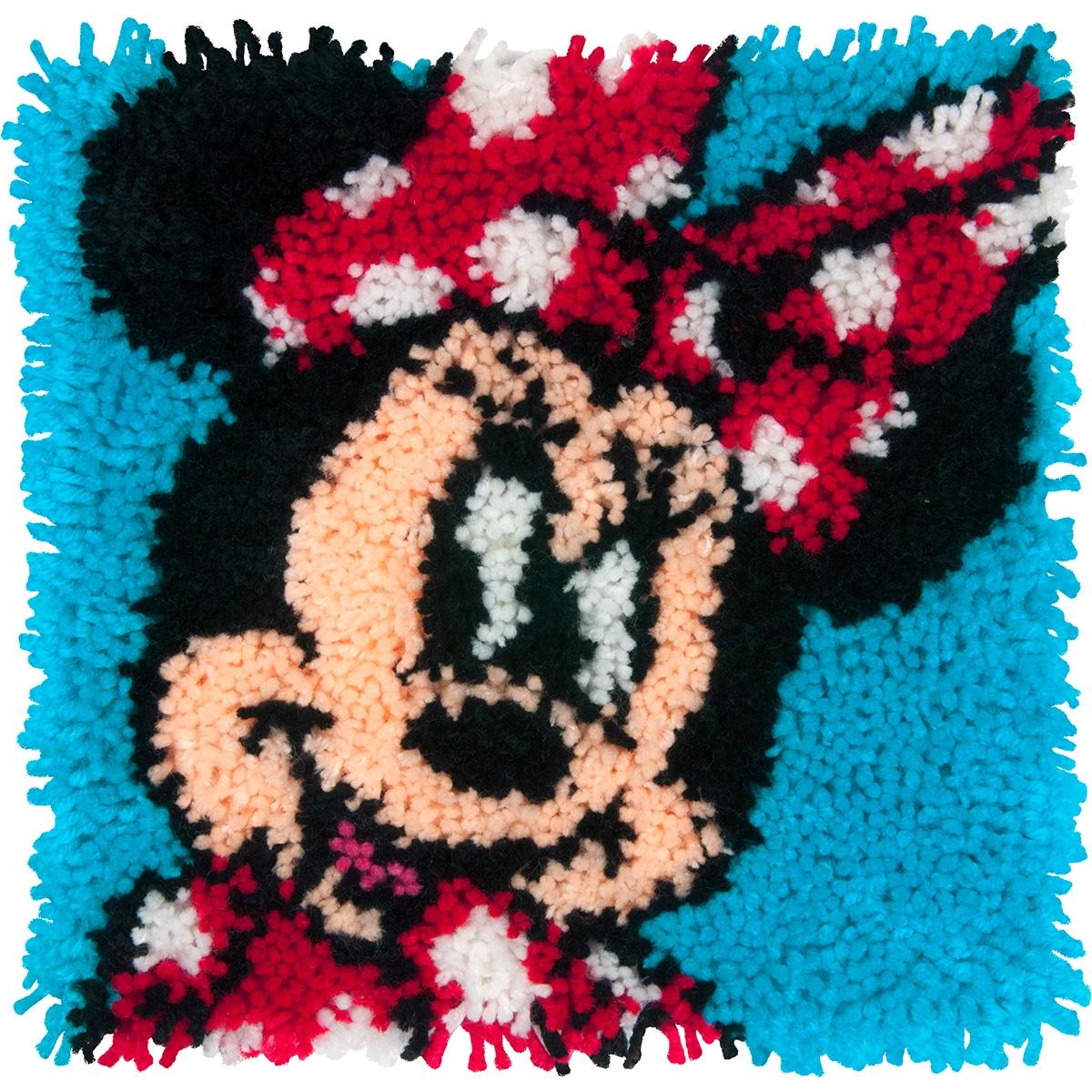 """DIMENSIONS Disney Latch Hook Kit 12""""X12""""-Minnie Mouse (Mi..."""