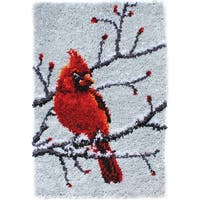 "Wonderart Classic Latch Hook Kit 20""X30""-Cardinal"