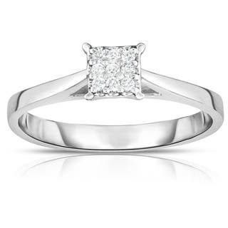 Noray Designs 14K Gold Diamond (0.06 Ct, G-H color, SI2-I1 Clarity) Square Stackable Ring - White G-H|https://ak1.ostkcdn.com/images/products/16068866/P22455281.jpg?impolicy=medium