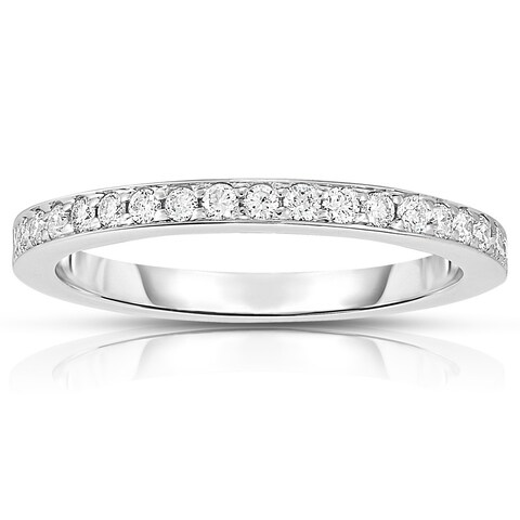 Noray Designs 14K White Gold Diamond (0.28 Ct, G-H Color, SI2-I1 Clarity) Wedding Band - White G-H