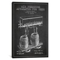 iCanvas Beer Apparatus Charcoal Patent Blueprint by Aged Pixel Canvas Print