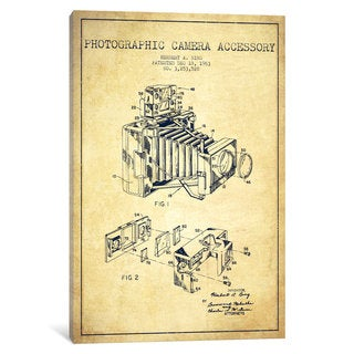 iCanvas Camera Vintage Patent Blueprint by Aged Pixel Canvas Print