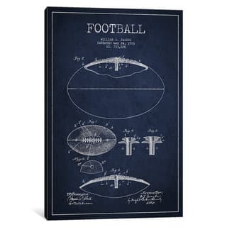 Football wall decor art gallery shop our best home goods deals icanvas football all navy blue patent blueprint by aged pixel canvas print malvernweather Choice Image