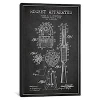 iCanvas Rocket Apparatus Charcoal Patent Blueprint by Aged Pixel Canvas Print