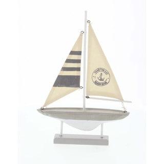 Seas The Day Nautical Sailboat Decor 9W, 13H