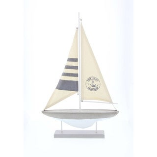 Beach Club Nautical Sailboat Decor 14W, 22H