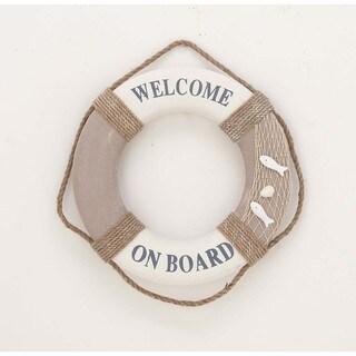 Handcrafted Polyuthrane Vintage Life Ring Nautical Decor