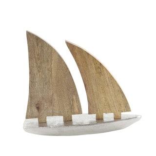 Attractive Aluminum Wood Sailboat Nautical Decor