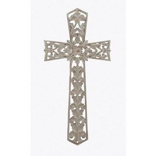 Benzara Beige Wooden Cross Wall Decor