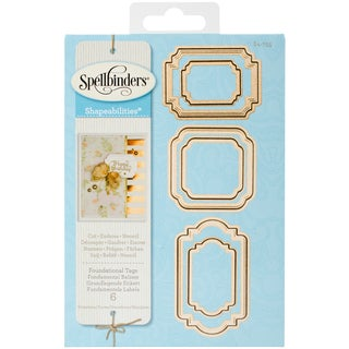 Spellbinders Shapeabilities Dies-Foundational Tags
