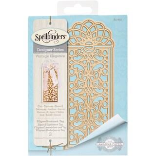 Spellbinders Shapeabilities Dies-Filigree Bookmark - Tag