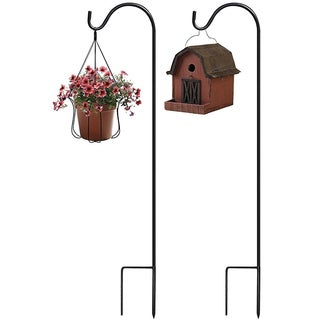 Sorbus® Shepherd's Hooks - Extendable Garden Planter Stakes (Set of 2)