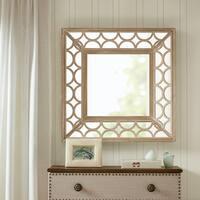Madison Park Aria Natural Scallop Wood Frame Mirror