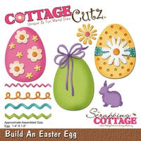"CottageCutz Die-Build An Easter Egg, 1.4""X1.9"""