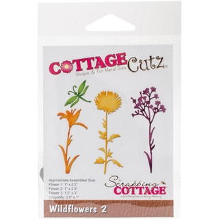 "CottageCutz Die-Wildflowers 2, 0.9"" To 3"""