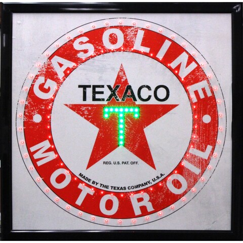 Texaco Gasoline Motor Oil Vintage Man Cave Garage Marquee LED Sign
