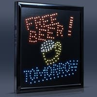 American Art Decor Free Beer Tomorrow Framed Marquee LED Sign Man Cave Wall Decor