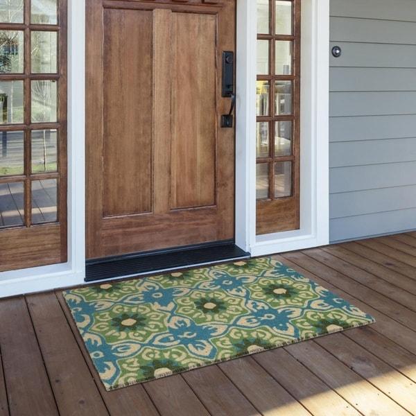 Kosas Home Blossom 24x36 Coir Fiber Doormat