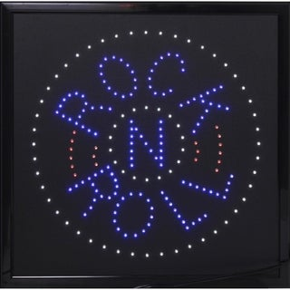 Rock n Roll Framed Marquee LED Signs Man Cave Wall Decor