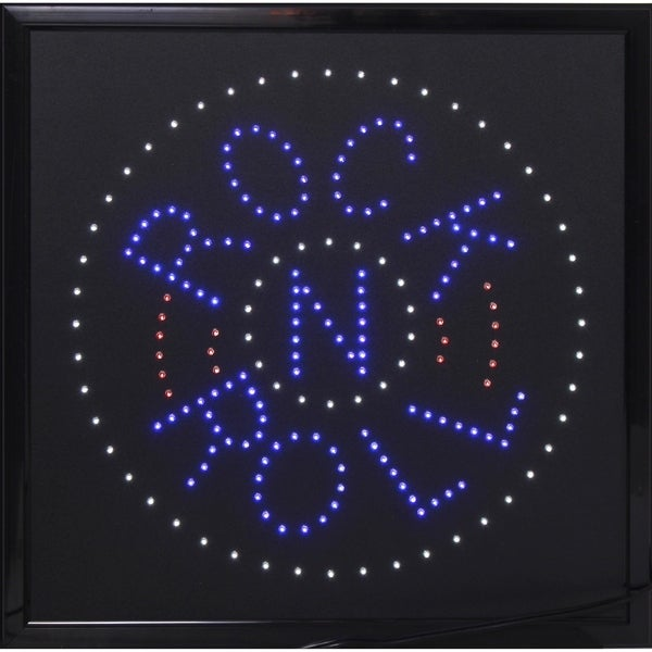 American Art Decor Rock n Roll Framed Marquee LED Signs Man Cave Wall Decor