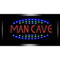 American Art Decor Man Cave Framed Flashing Bar Garage Marquee LED Signs
