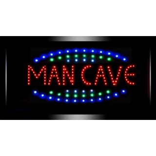 Man Cave Framed Flashing Bar Garage Marquee LED Signs