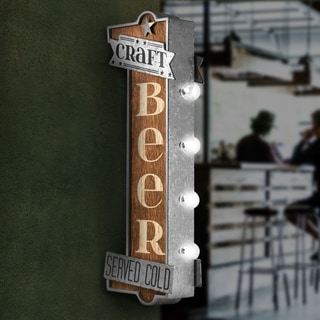 American Art Decor Craft Beer Metal Bar Vintage Marquee LED Sign Man Cave Wall Decor