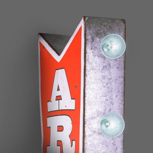 JEUX D/'ARCADE Metal Arrow grand Vintage rétro classique MARQUEE signe avec lumières DEL