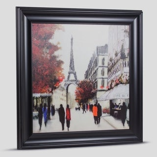Paris Eiffel Tower Framed Canvas Wall Art Painting Print