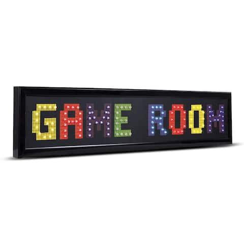 American Art Decor Game Room Framed LED Lights Man Cave Wall Decor