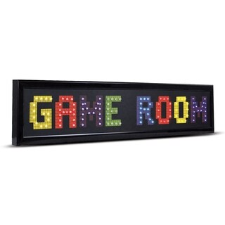 Game Room Framed LED Lights Man Cave Wall Decor