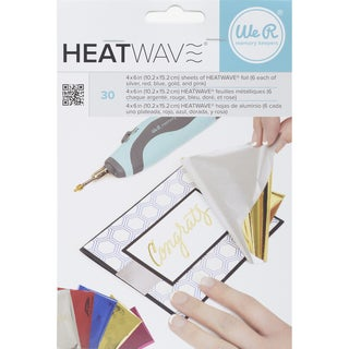 "Heatwave Foil Sheets 4""X6"" 30/Pkg-Multicolor"