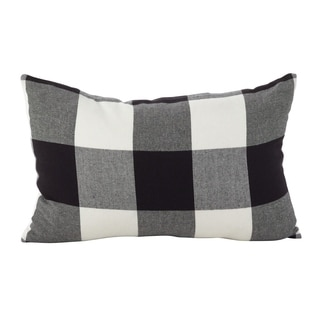 Buffalo Check Plaid Design Cotton Down Filled Throw Pillow (Option: Red)