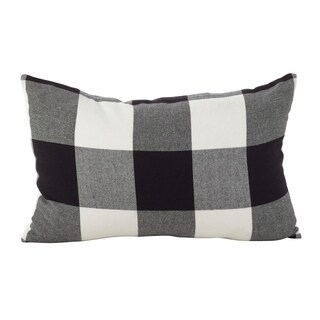 Buffalo Check Plaid Design Cotton Down Filled Throw Pillow