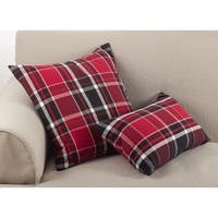 Tartan Plaid Pattern Cotton Down Filled Throw Pillow