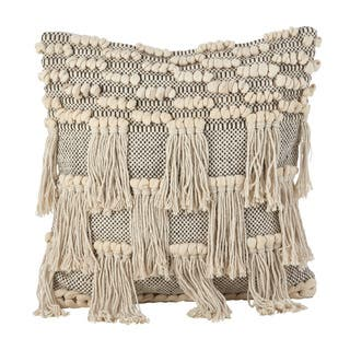Moroccan Wedding Blanket Style Design Fringe Cotton Down Filled Throw Pillow|https://ak1.ostkcdn.com/images/products/16069727/P22456035.jpg?impolicy=medium