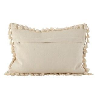 Moroccan Design Tassel Fringe Cotton Down Filled Throw Pillow