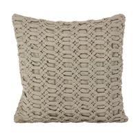 Smocked Design Cotton Down Filled Throw Pillow