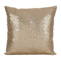 Shimmering Sequin Design Poly Filled Throw Pillow