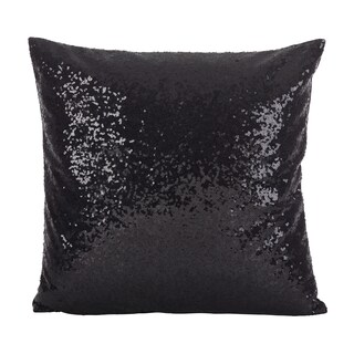 Shimmering Sequin Design Poly Filled Throw Pillow (4 options available)