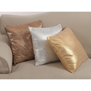 Shimmering Metallic Design Down Filled Throw Pillow