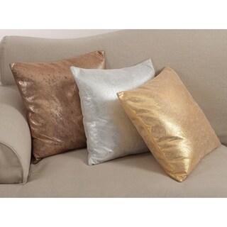 Shimmering Metallic Design Down Filled Throw Pillow