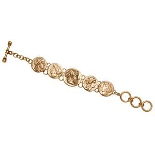Handmade Alchemia Greek Coin Bracelet (Mexico) - Gold