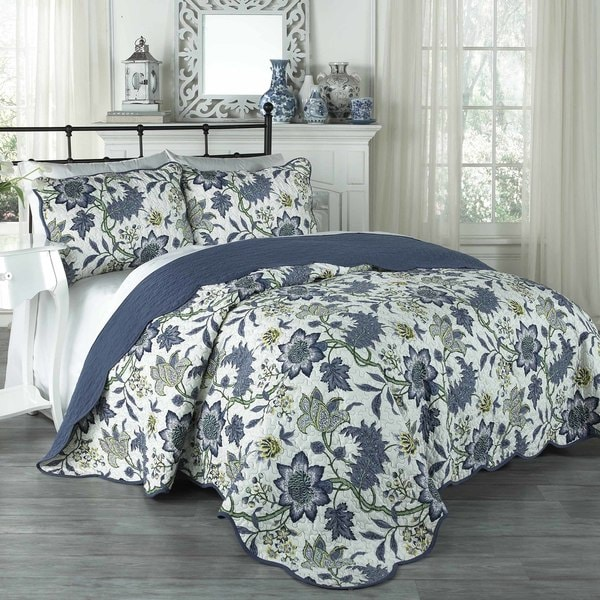 Traditions by Waverly Maldives 3-Piece Quilt Collection. Opens flyout.