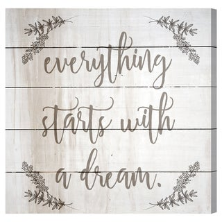 Oliver Gal 'Everything Starts With a Dream Rustic' Wood Art