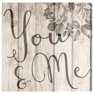 Oliver Gal 'You and Me Rustic' Wood Art