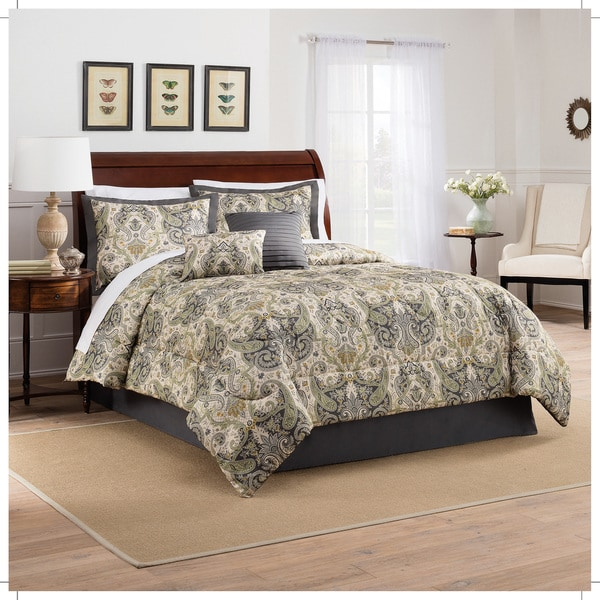 Traditions by Waverly Lyrical Legend Shale 6 Piece Comforter Set