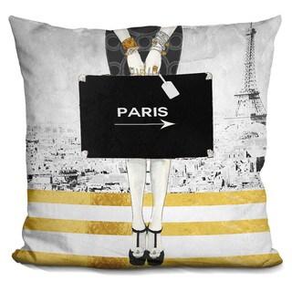 By Jodi 'Paris trip' Throw Pillow