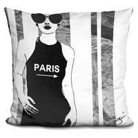 By Jodi 'Paris this way' Throw Pillow