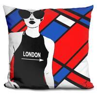 By Jodi 'London this way' Throw Pillow